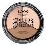 Палетка для контуринга NYX Professional Makeup 3 Steps To Sculpt Face Sculpting Palette