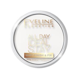 "Пудра рисовая ""Матирующе-укрепляющая"" Eveline Cosmetics All Day Ideal Stay Matt Finish & Fix"