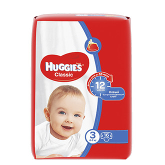 Підгузки Huggies Classic 3 (4-9 кг)