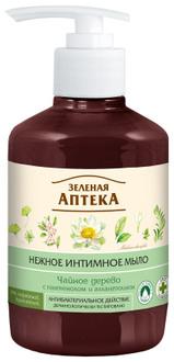 """Нежное интимное мыло антибактериальное """"Чайное дерево"""" Зеленая Аптека"""