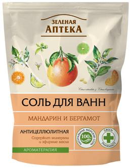 """Соль для ванны """"Мандарин и бергамот"""" Зеленая Аптека"""