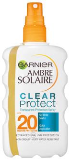 """Солнцезащитный прозрачный спрей """"Чистая защита+"""" Garnier Ambre Solaire SPF 20"""