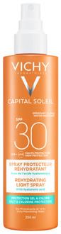 Солнцезащитный водостойкий спрей для тела с гиалуроновой кислотой Vichy Capital Soleil Beach Protect Anti-Dehydration Spray SPF 30