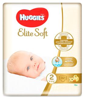 Підгузки Huggies Elite Soft Newborn 2 (4-6 кг)