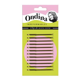 Фото Коричневі невидимки для волосся 70 мм Eurostil Ondina
