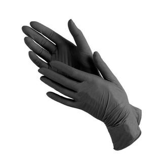 Фото Черные нитриловые перчатки Polix PRO&MED Black