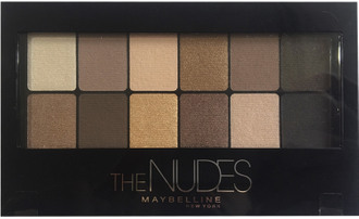 Фото Палитра теней для век 12 оттенков для натурального макияжа глаз Maybelline The Nudes