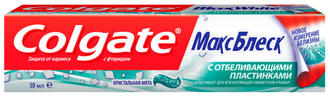Фото Зубная паста с отбеливающими пластинками
