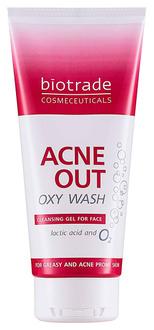 Фото Кислородное умывание против угревой сыпи Biotrade Acne Out Oxy Wash Cleansing Gel For Face