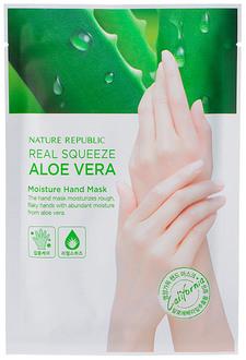 Фото Маска для рук Nature Republic Real Squeeze Aloe Vera Moisture Hand Mask