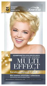 Фото Тонирующий шампунь для волос в саше Joanna Multi Effect Color