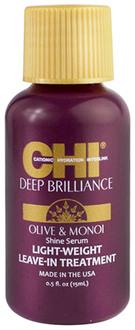 Фото Несмываемая сыворотка для волос CHI Deep Brilliance Olive & Monoi Shine Serum Light Weight Leave-In Treatment