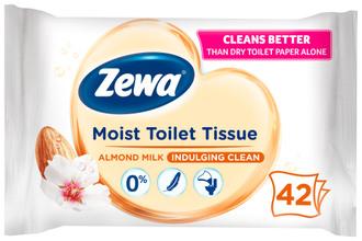 Фото Влажная туалетная бумага Zewa Almond Milk