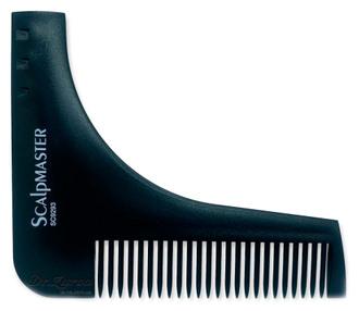 Фото Гребінець-куточок для стрижки бороди Scalpmaster Beard Styling Tool
