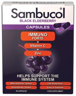 Фото Капсули для імунітету з чорної бузини для дорослих Sambucol Immuno Forte Capsules