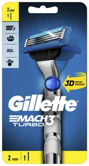 Фото Бритва з 2 змінними касетами Gillette Mach3 Turbo 3D
