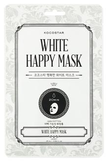 Фото Тканинна маска для обличчя Kocostar White Happy Mask
