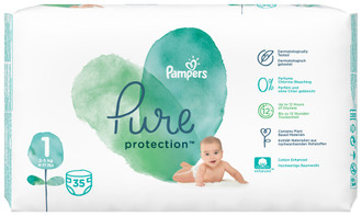 Фото Підгузки Pampers Pure Protection Newborn 1 (2-5 кг)